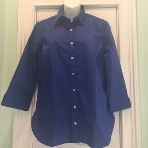 Women's Lands End Outfitters Blue 3/4 Sleeve 8